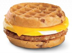 """Breakfast Waffle Sandwich (Jack In The Box)  The Best Food Inventions Of The Year  It was a watershed year for innovative """"food products"""" all around the world"""