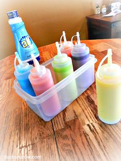 How to make homemade sidewalk chalk in a bottle! AD #kids