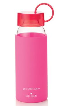 kate spade new york glass & silicone water bottle (16 oz.) available at #Nordstrom