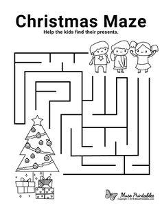 Christmas Maze, Christmas Puzzle, Christmas Jokes, Christmas Colors, Kids Christmas, Christmas Crafts, Mazes For Kids Printable, Free Christmas Printables, Free Printable