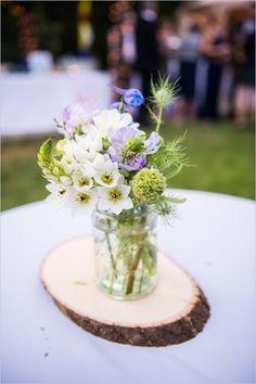 rustic wedding flowers  http://wedding101.net/  Methinks groom-approved floral arrangement?