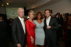 """Gayle King with """"Miracle on the Hudson"""" Pilot Chelsey """"Sully"""" Sullenberger and company."""