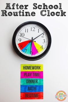74 Crazy DIY ideas that all parents would have liked to hear about earlier - Hezarfen - - 74 wahnsinnig clevere DIY-Ideen, von denen alle Eltern gern früher gehört hätten Help your children maintain their routine by making this post-school clock. After School Schedule, Kids Schedule, Weekly Schedule, School Routines, School Hacks, School Ideas, School Tips, Back To School Organization, Organization Ideas