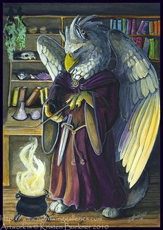 Gryphon Tarot - The Magician by silvermoonnw on DeviantArt