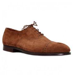 Crockett & Jones - Belgrave tan suede Me Too Shoes, Men's Shoes, Dress Shoes, Crockett And Jones, Classic Leather, Color Negra, Gentleman, Oxford Shoes, Men's Fashion