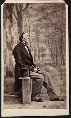 Portræt af H. C. Andersen foto. Budtz Müller & Co, 1863 89 x 53 mm