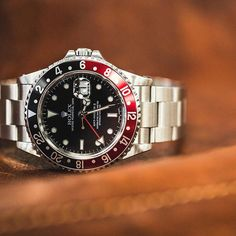 Just arrived: Rolex GMT Master II (Coke Bezel) with box and papers in excellent condition. No need for embellishment on such a great watch. Available now for $6,400, just search ERP22310 through the link in our bio. Financing now available.