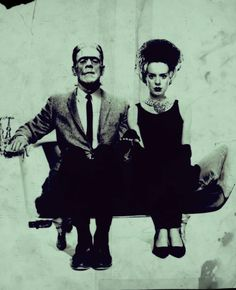 The Monster and his bride.