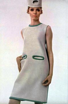 Pierre Cardin robe L'Officiel Magazine 1968