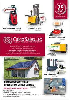 Calco Sales Ltd - Stop Shopping, Go to Winners Products. Tel: 212 1490 / 212 1493