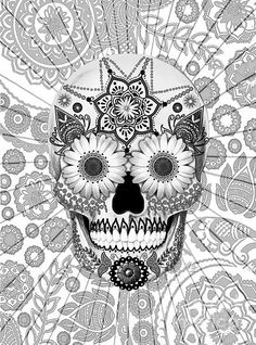 Sugar Skull Bleached Bones by Christopher Beikmann