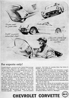 1953 Corvette Ad-02.jpg (732×1050)  Long copy ads.... I miss you