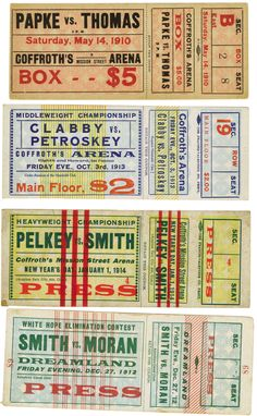 1910 boxing tickets @Kristen Jones I think this is how I want to do the ticket for the auction. what do you think?