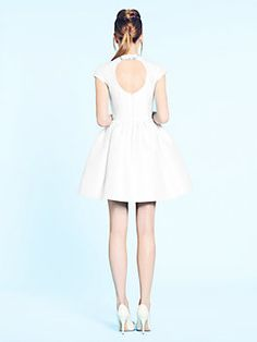 madison ave. collection quinlan dress, cream