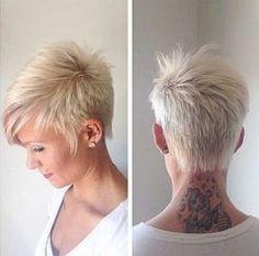 Cool back view undercut pixie haircut hairstyle ideas 24