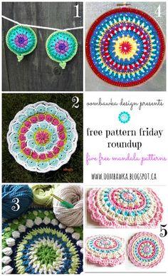 Crochet Mandalas   Free Pattern Friday Round Up!