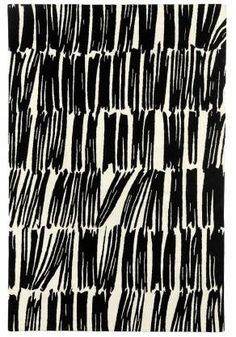 'Static' - cream / black rug at Judy Ross Textiles Motifs Textiles, Textile Patterns, Textile Prints, Print Patterns, Graphic Patterns, Textile Design, Surface Pattern Design, Pattern Art, Abstract Pattern
