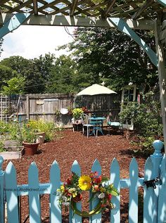 Cute ideas - New Seating Area In The Veggie Garden