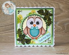 Mr Owl Just For Just! Digi Stamp & Papers from Twinkle Lane Designs