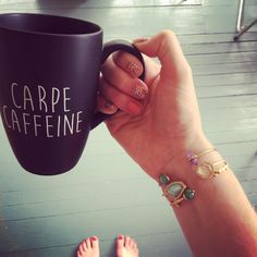 Carpe Caffeine. Mug from @worldmarket