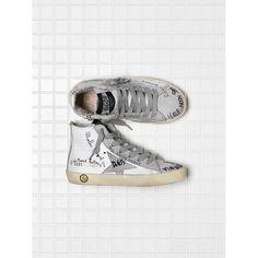 meet e9645 e4b60 Saldi 2017 Golden Goose Bambino Scarpe FRANCY Grigie Bianche Sneakers  G31KS302.T3