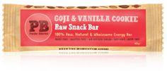 kauppa.ruohonjuuri.fi - Raakapatukka, goji & vanilja, 2,90e / kpl (45g) Vanilla Cookies, Energy Bars, Snack Bar, Snacks, Personalized Items, Appetizers, Treats