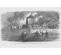 MILLEDGEVILLE GEORGIA CAPITAL 1865 CIVIL WAR SERGEANT HELMES RAISING THE COLORS