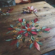 Meditation meets creative play // Fall foliage mandalas