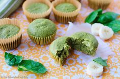 Banana, Spinach & Oat Blender Muffins made in the Vitamix
