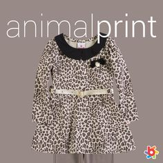 O animal print segue como tendência no inverno das meninas. Aposte nesse look para festinhas e eventos especiais #fashionkids #inverno2014brandili