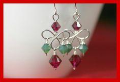 Swarovski Chandelier Earrings Wire Wrapped by JessicaLuuJewelry, $32.00