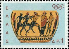 Αρχαία Ελλάδα Γραμματόσημα-Ancient Greece Stamps 1964 Έκδοση Ολυμπιακοί Αγώνες Τόκιο (Αγώνες δρόμου)
