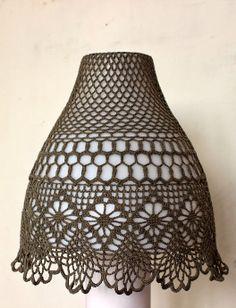 Crocheted lampshade
