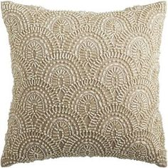 Romantic Glam Beaded Scallop Pillow
