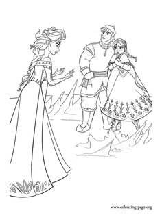 In this scene, Kristoff wants to help Anna. Just print it and have fun with this amazing Disney Frozen coloring page!