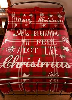 Christmas Slogan Print Duvet Set View 1