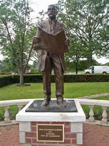 Image detail for -statue of o c barber at lake anna