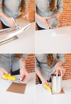 how to DIY a Modern Cement Desk Lamp, the perfect project for a minimal office space - learn how to make one of your own on jojotastic.com