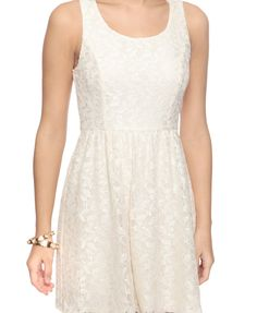 www.forever21.com $25 leaf lace dress in cream