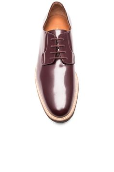 Common Projects Derby Leather Shine in Oxblood