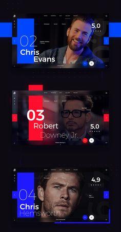 Web design concept for the movie Avengers - Infinity War Best Website Design, Website Design Layout, Web Layout, Layout Design, Gfx Design, Page Design, Website Design Inspiration, Graphic Design Inspiration, Web Minimalista