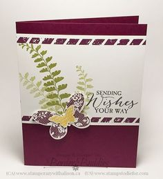 Stampin' Up! Butterfly Basics & Butteflies thinlits pinned from www.stampstodiefor.com