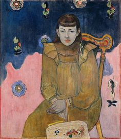 Paul Gauguin (French, 1848-1903): Portrait of a Young Woman, Vaïte (Jeanne) Goupil, 1896.