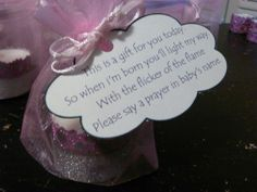 tealight candle baby shower - Google Search