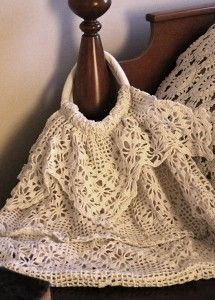 repurpose old crocheted pieces into a purse & line it