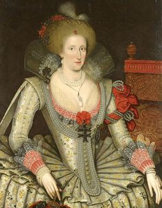 Marcus Gheerearts the Younger Portrait of Anne of Denmark, Queen of England Royal Collection. Anne Of Denmark, Adele, Royal Collection Trust, Queen Of England, Power Dressing, Historical Clothing, Historical Costume, Female Clothing, Antique Clothing