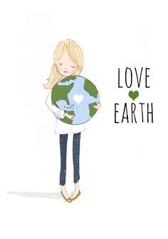 Earth Day Illustration  www.rosehilldesignstudio.etsy.com