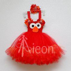 Este adorable Sesame Street inspiró hace personaje el atuendo perfecto para tu pequeño cumpleaños niñas, disfraces de halloween, vestir la caja y mucho