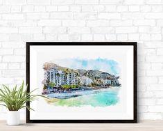 Puerto Vallarta Beach - Art Print - 10\ x 6.5\ / Picture Rag