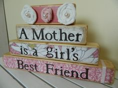 Mothers gift wooden stacker